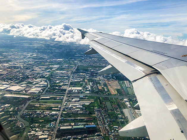 飛行機から見たタイ