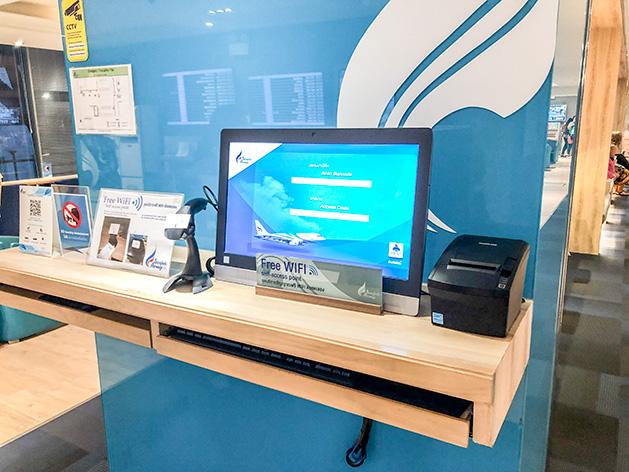 フリーWi-Fiのパスワードを発行する機械