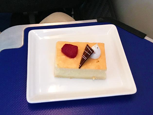 ビジネスクラスのデザート