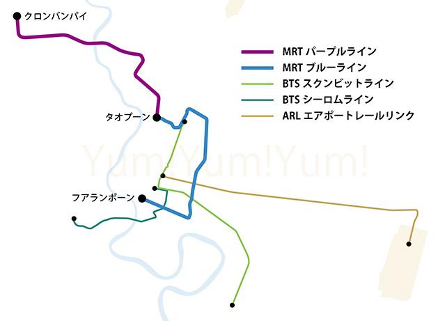 ブルーライン、パープルライン路線図