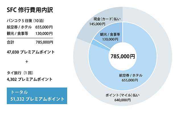 SFC修行費用グラフ