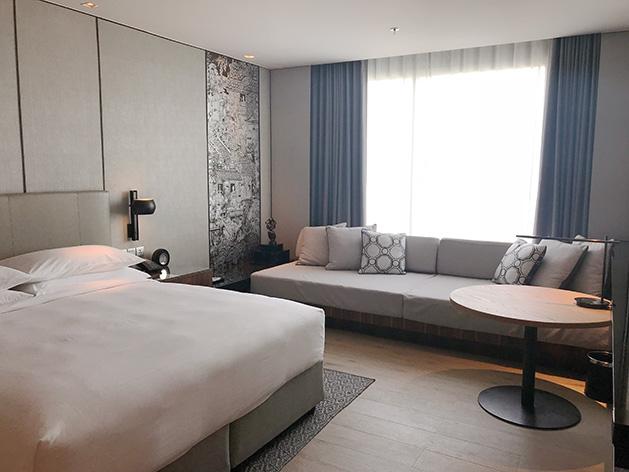 バンコク・マリオット・ホテル・ザ・スリウォンの寝室エリア