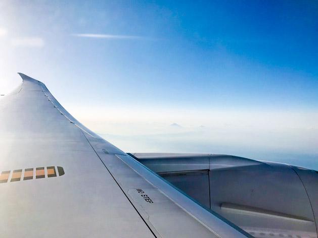 機内から見た空